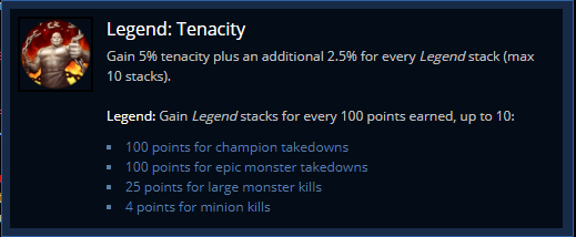 Legend Tenacity rune in League of Legends