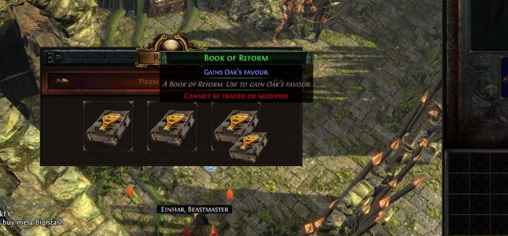 The book of reform allows you to change your reward choice and get the reward from helping a different bandit later in the game.