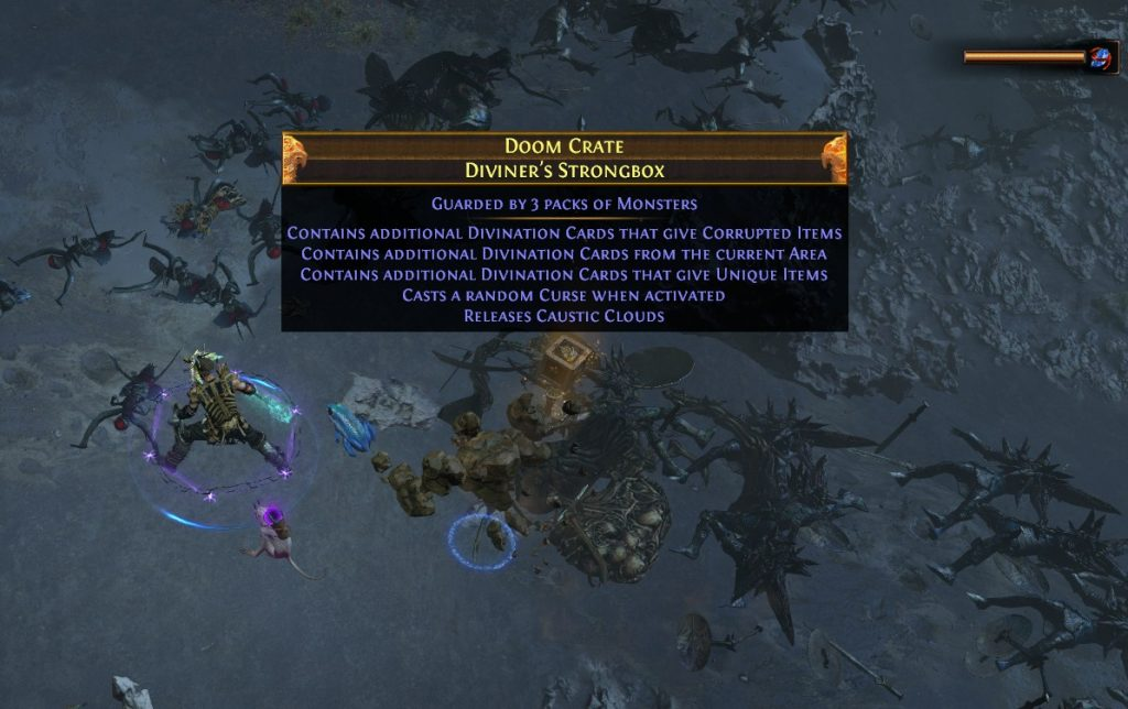 An example of a strongbox in Path of Exile.