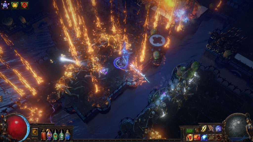 An example of the new Arcanist's Brand skill used in synergy with other spells in PoE 3.11
