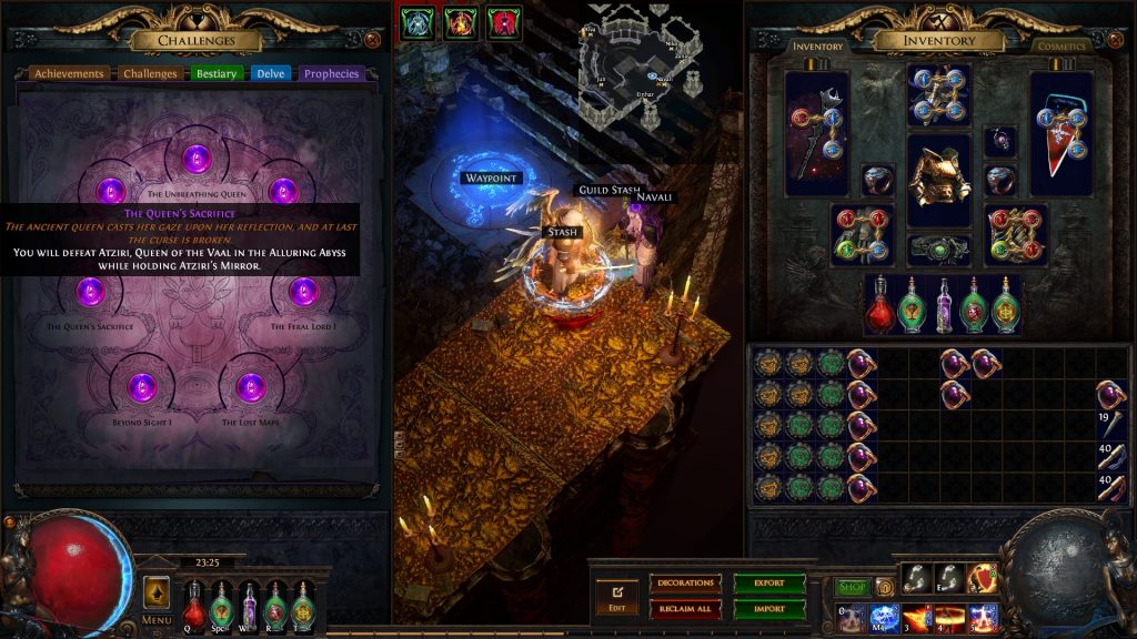 The Queen's Sacrifice is one of the most difficult and rewarding prophecies in PoE.