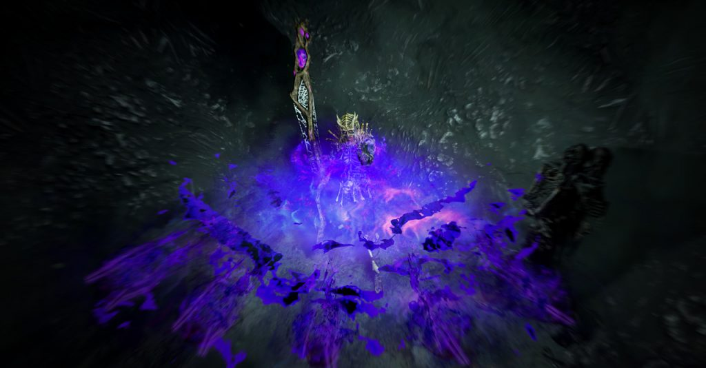 An in-game screenshot of an Essence Drain trickster character.