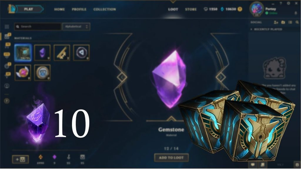 In League of Legends, gemstones are one of the most coveted crafting materials in the Hextech Crafting system.