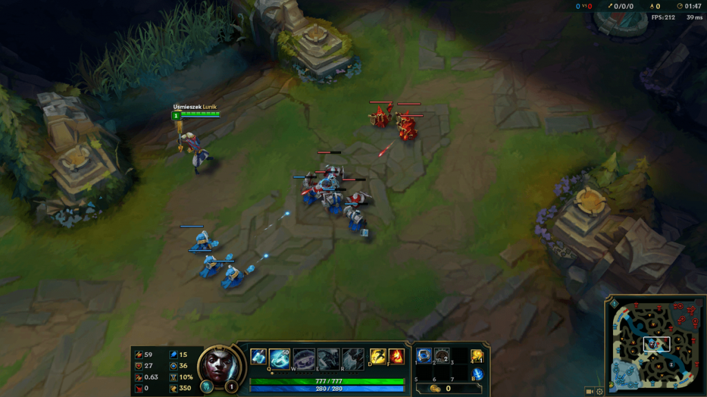 An example of an easy-peasy lane freeze set up at Level 1.