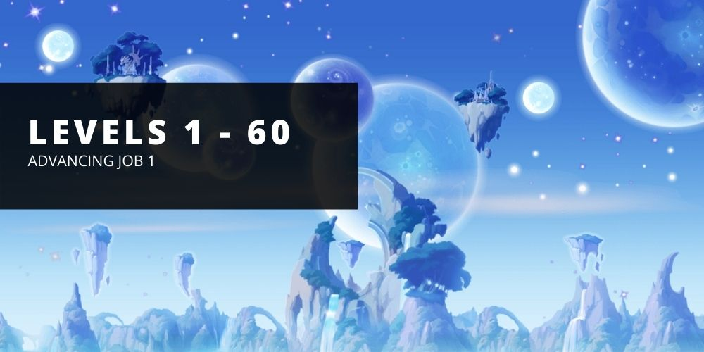 Zone by zone leveling progression for levels 1 to 60 in maple story reboot.