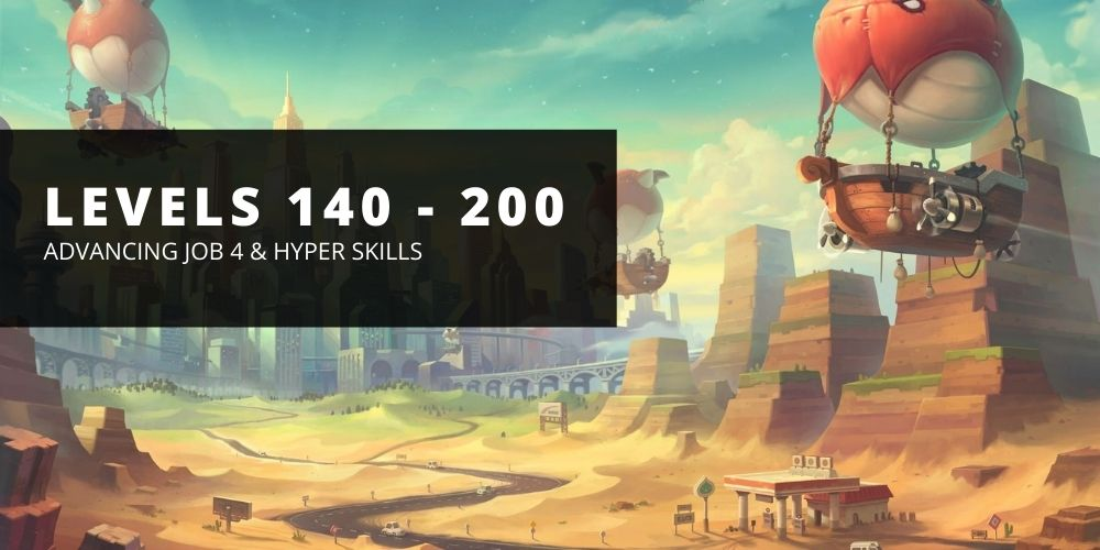 The FragMeta guide on getting your 4th job and hyper skills leveled up from level 140 to 200 in Maple Story Reboot.