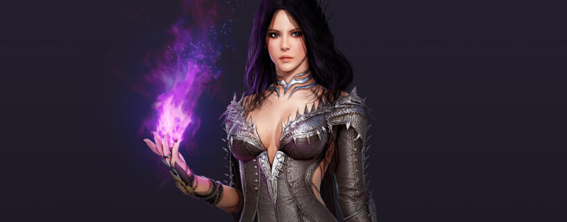 The sorceress class in Black Desert Mobile.
