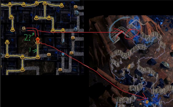 While most isolated nodes in PoE are dead ends, depth 3 topmost nodes can sometimes have a hidden path.