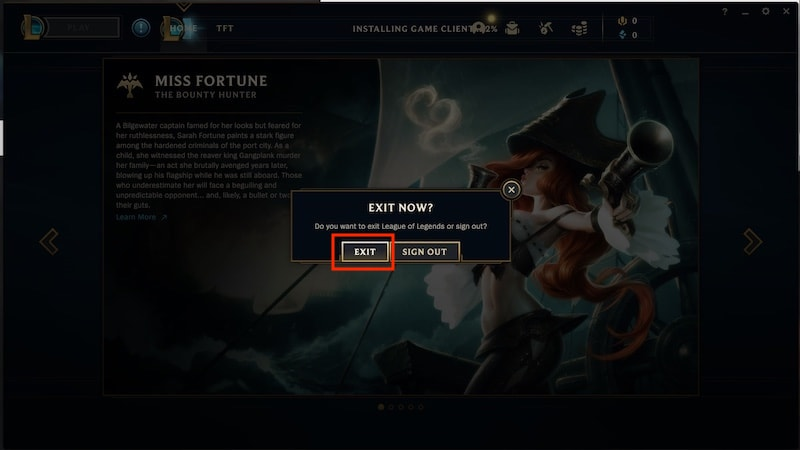 Wondering how to log out of League of Legends? Clicking sign out on the game client's exit menu is the easiest way to get it done.